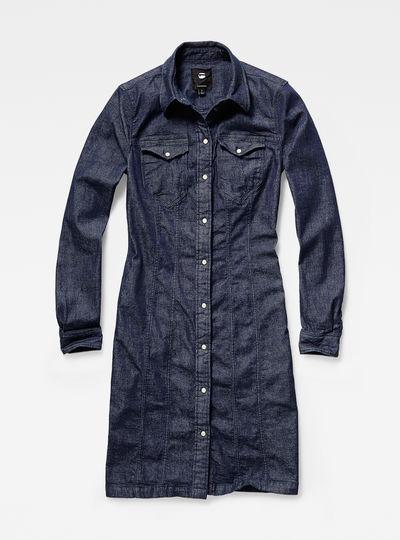 Tacoma slim flare dress l/s