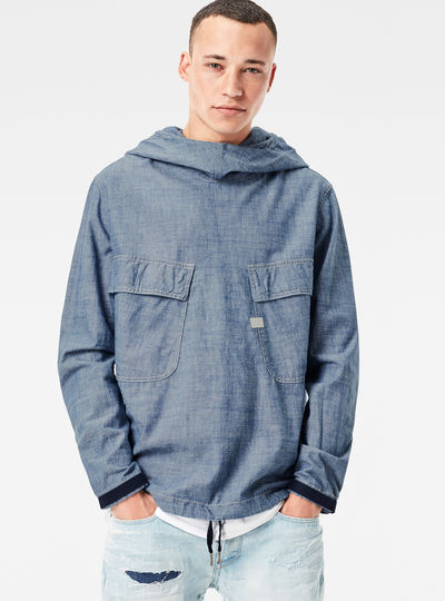 Chambray PW Hooded Jacket