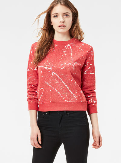 Luuto Splatter Cropped Sweater