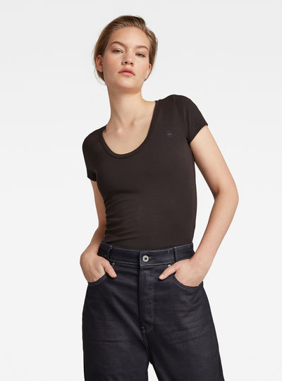 Base Round Neck Cap Sleeve T-Shirt