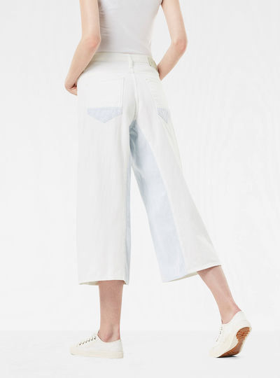 Arc Button High Waist Culotte