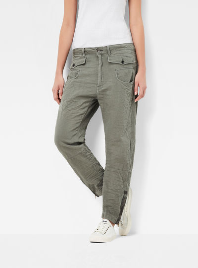Army Radar Zip Loose Tapered Pants