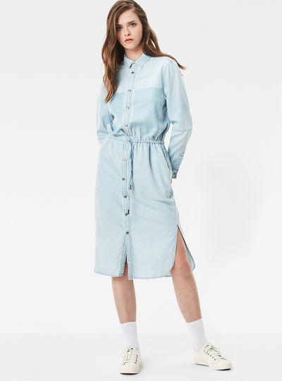 Modern Arc 3D Shirt Dress