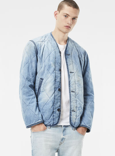 Liner M Cropped Quilted Overshirt