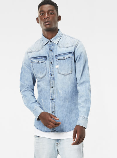 3301 Quilted Denim Shirt