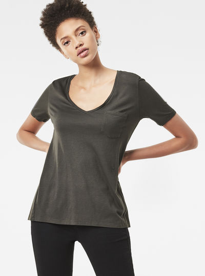 Ovvela Straight Deep-V T-Shirt