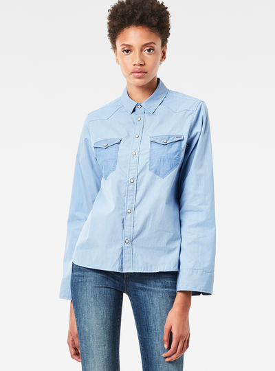 Tacoma Wide-Sleeve Boyfriend Cropped Shirt