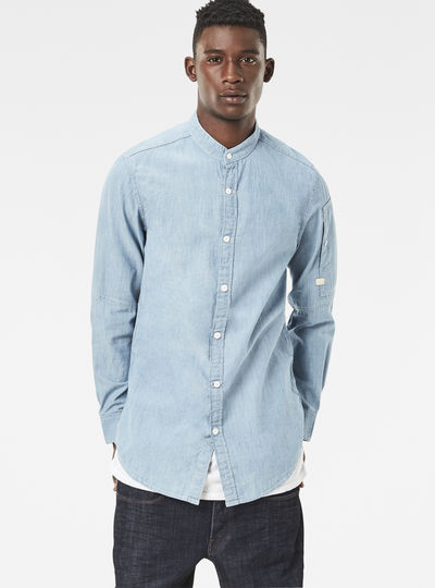 Stalt C-Less Clean Long Denim Shirt