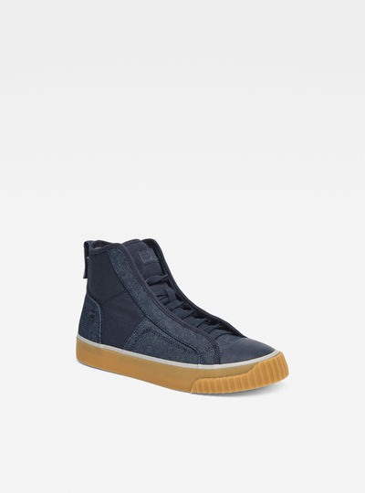 Scuba Denim Mid Sneakers