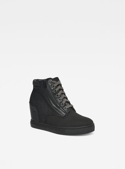 Pristel Zip Wedge Sneakers