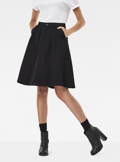 Bronson Ultra High Waist A-Line Skirt