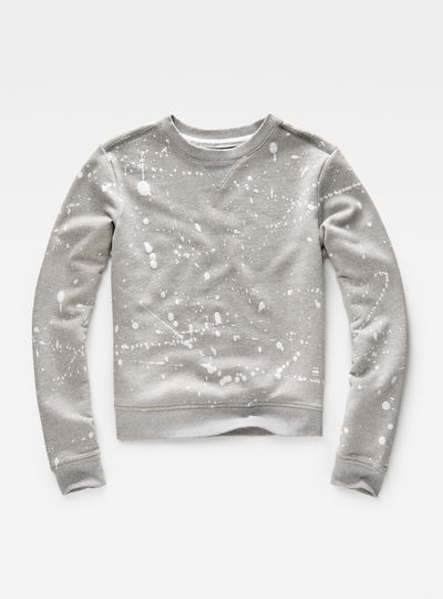 Luuto Splatter Cropped Sweater