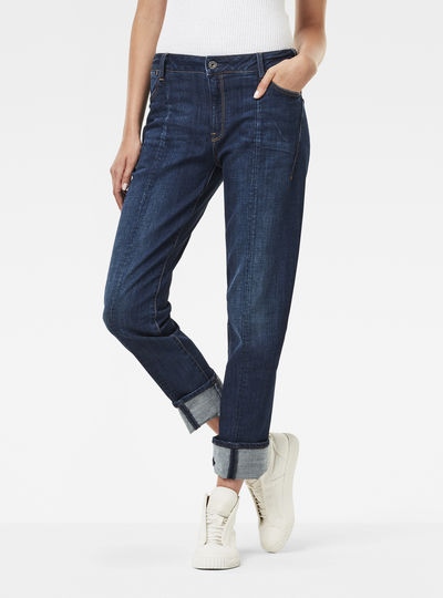 Lanc 3D Mid Waist Boyfriend Jeans