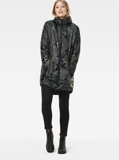 Strett Hooded Padded Deconstructed Parka