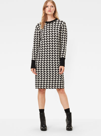 Evalak Jacquard Knit Dress