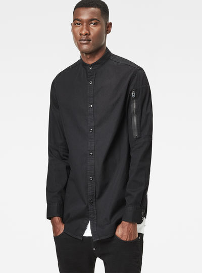 Stalt C-Less Zip Long Denim Shirt