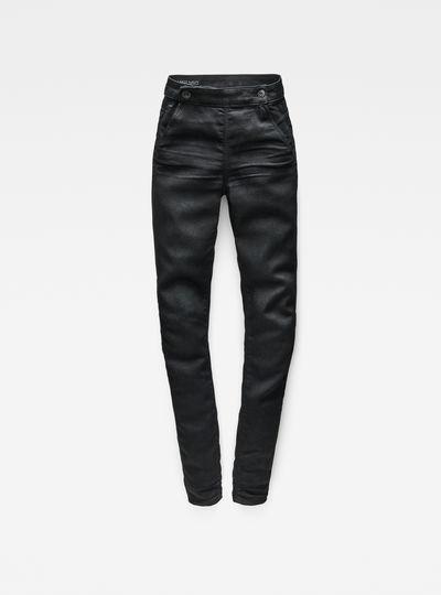 5622 Navy High Waist Skinny Jeans