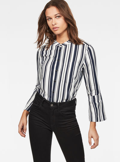 Deline Straight Cropped-Sleeve Shirt
