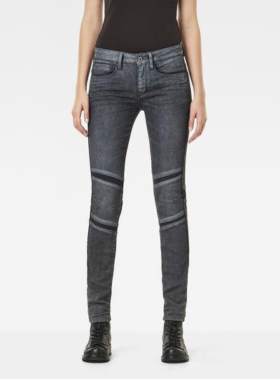 Motac Deconstructed 3D Mid Waist Skinny Jeans