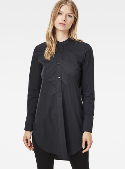 Core 3D Elongated Boyfriend Shirt