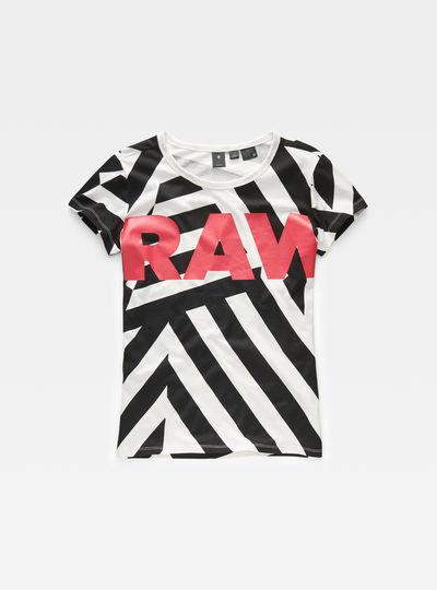 Dazzle Camo Print Straight T-Shirt