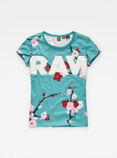 Sakura Print Straight T-Shirt