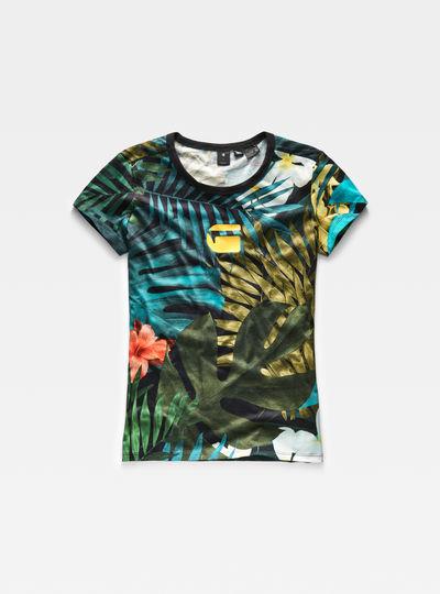 Aloha Print Straight T-Shirt