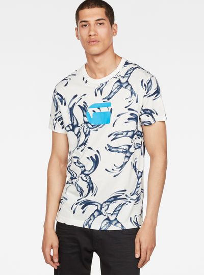 Chinese Willow Print T-Shirt