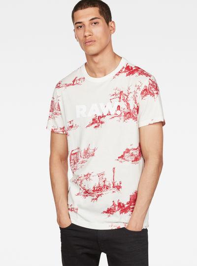 Toile de Jouy Print T-Shirt