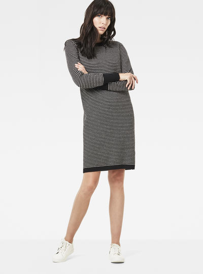 Esthor Jacquard Knit Dress