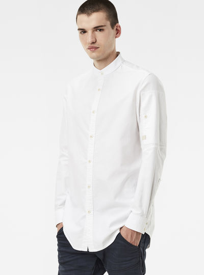 Stalt Collarless Clean Denim Shirt