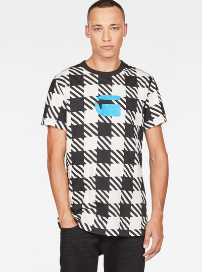 Shepherd's Check X25 Print T-Shirt