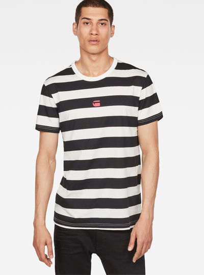 Prison Stripe X25 Print T-Shirt