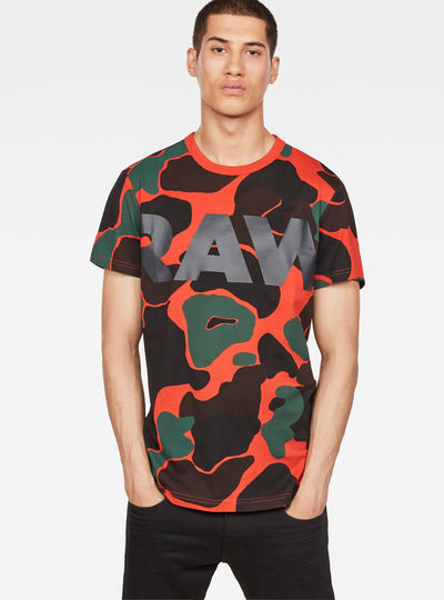 Blaze Orange Camouflage X25 Print T-Shirt