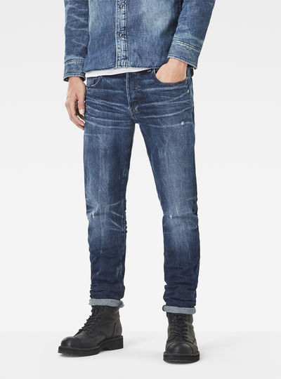 3301 Red Listing Slim Jeans