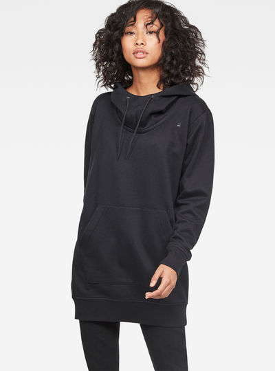 Reffit Boyfriend Long Hooded Sweater