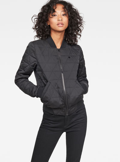 Rackam Deconstructed Padded Slim Bomber