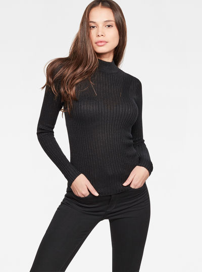 Lynn Mock-Turtle Knit