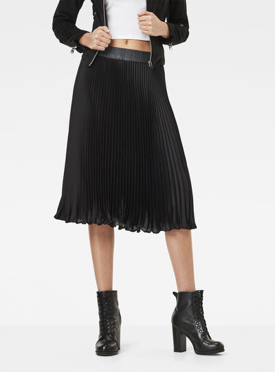 GS High Waist Plissee Skirt