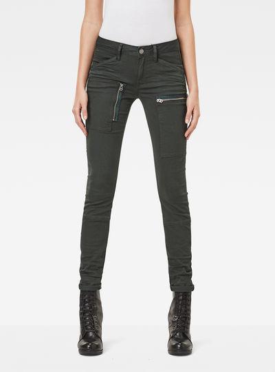 Powel Utility Mid Waist Skinny Jeans