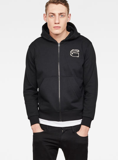 Monthon Hooded Zip Sweater