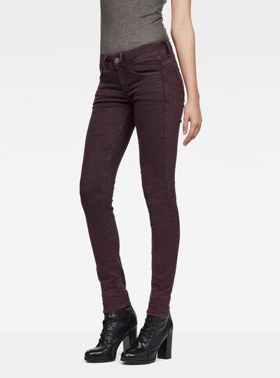 Lynn Mid-Waist Skinny Color Jeans