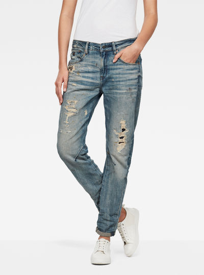 Raw Essentials Arc 3D Mid-Waist Boyfiend Jeans