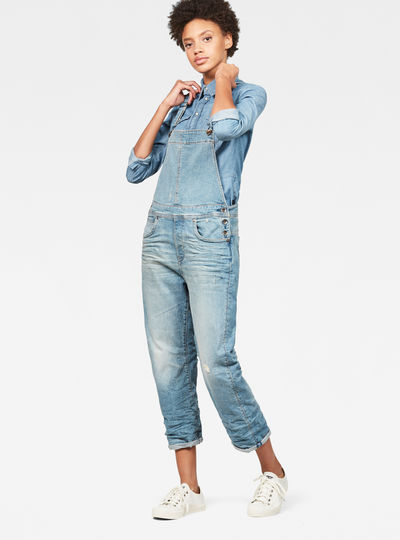 Midge Saddle Boyfriend Denim Overalls