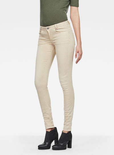 D-Staq 5-Pocket Mid Skinny Color Jeans