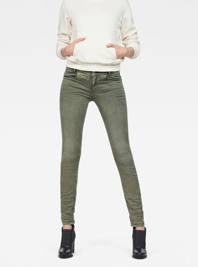 D-Staq 5-Pocket Mid waist Skinny Color Jeans