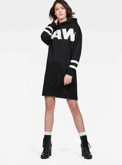 Scolla Oversized Hooded Sweater Dress
