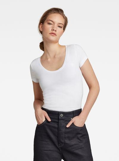 Base Round Neck Cap Sleeve T-Shirt