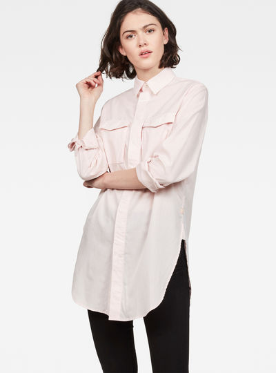 H-A 2-Pocket Elongated Shirt