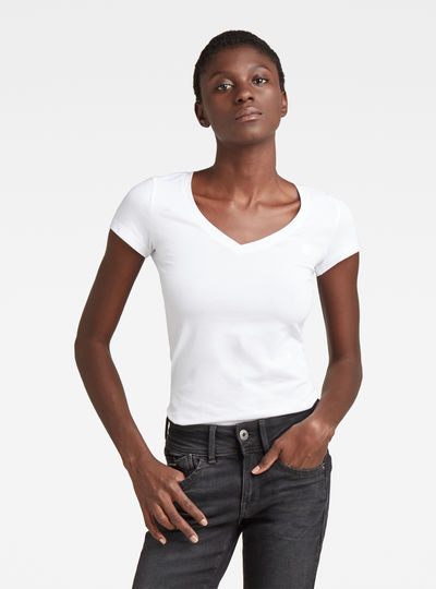 Base V-Neck Cap Sleeve T-Shirt